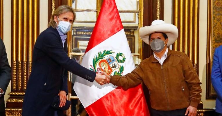 Ricardo Gareca y Pedro Castillo